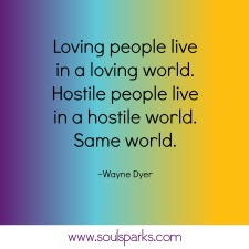 loving people loving world