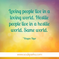 loving people loving world
