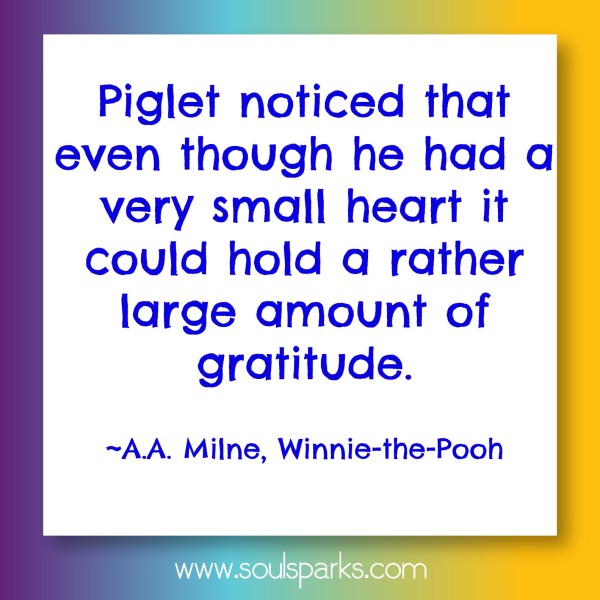 small heart could hold gratitude