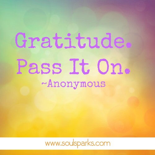gratitude. pass it on.
