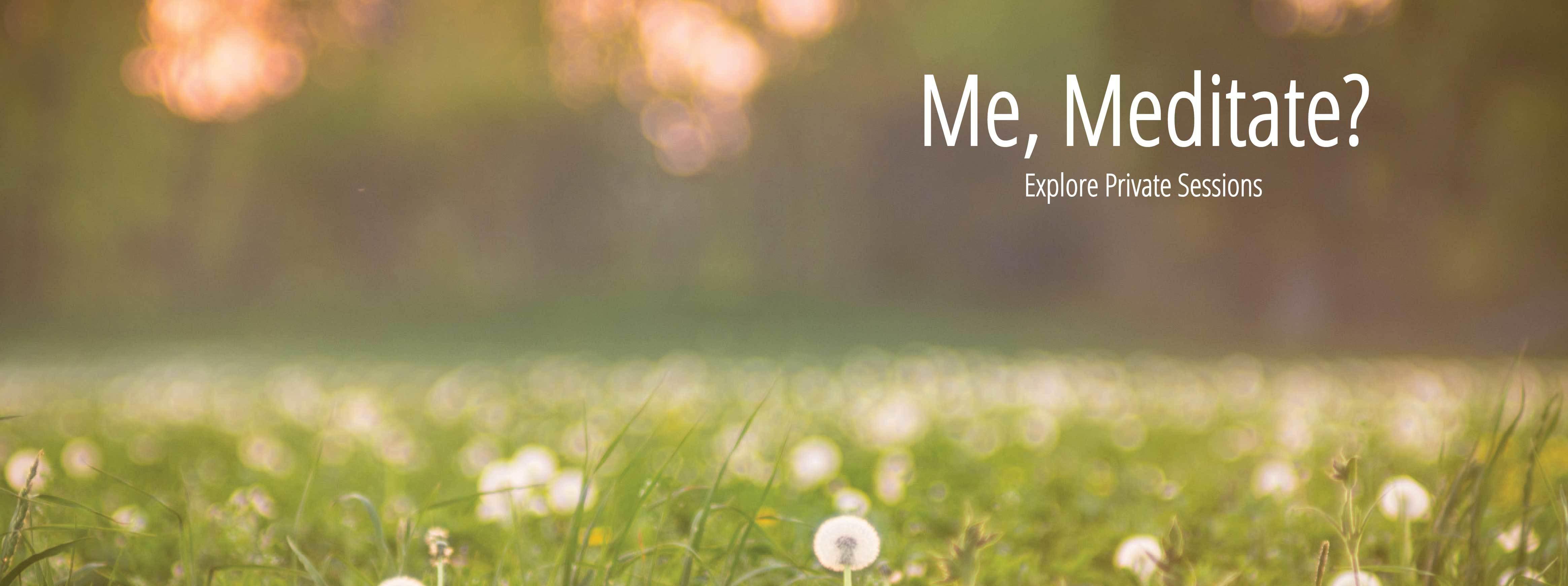 Me, Meditate?