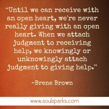 giving and receiving brene brown
